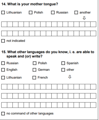 lithuania questionnaire